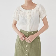 wave shirring ribbon blouse_(1285448)