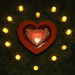비누장미(중)+LED촛불 조명세트_(301717094)