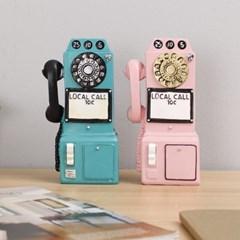 엔틱 전화기(대)-핑크,블루_(2739163)