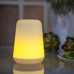 옐로우 LED 무선 건전지 무드등 아기 취침등 수유등