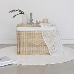 포홈 라탄 등나무 수납 테이블 (대)_(1637010)