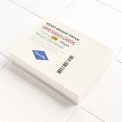 그리드 인덱스카드 화이트 100매 - 6x8