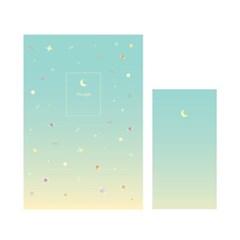 1000 편지지-우주패턴(민트)_(2626504)