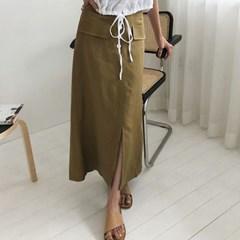 popo stitch long skirt (s, m)_(1288220)