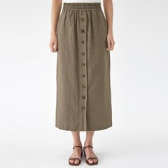 a banding button skirt (s, m)_(1288219)