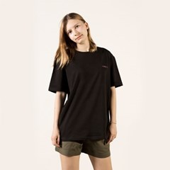 Lovely Salmon Black T-shirt