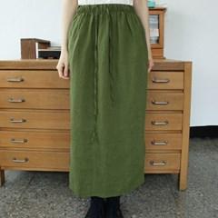 side slit detail linen skirts (2colors)_(1288439)