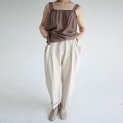 comfortable linen roll-up pants (2colors)_(1288438)