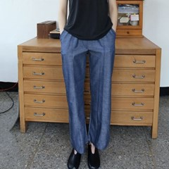 luster texture banding pants (2colors)_(1288436)