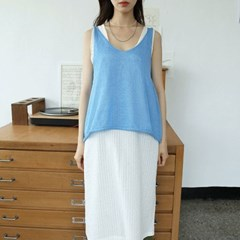 loose wearing knit sleevless (5colors)_(1288419)