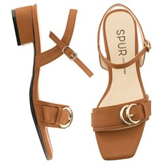 SPUR[스퍼] 샌들 OS9098 Double Circle buckle strap 카멜