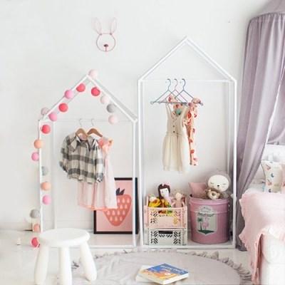[쁘띠메종] 하우스 키즈옷장 1+1 화이트 M+L세트