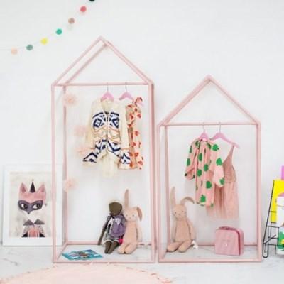 [쁘띠메종] 하우스 키즈옷장 1+1 핑크 M+L세트