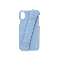 FENNEC LEATHER iPHONE X/XS HANDLE CASE - CROCO FOG BLUE