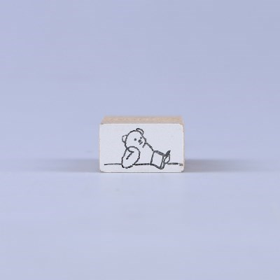 [노낫네버] 독서곰 우드 스탬프