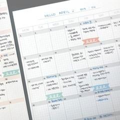 monthly scheduler _ 월간 플레너