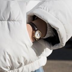 CASIO 카시오 여성시계 가죽밴드 클래식 미니하트초침