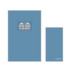 1000 편지지-윈도우(블루)_(2629921)