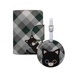 Travel set / minicats Gingham check