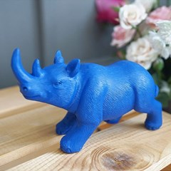 풍수 재물 블루 코뿔소