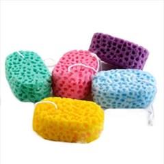 컬러 목욕 스펀지 샤워볼 1개(색상랜덤)