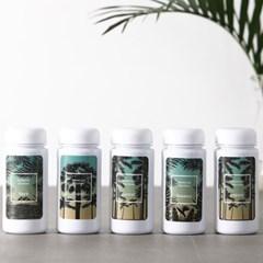 하와이안키친 유백색(화이트) 양념통 5P+스티커 8종