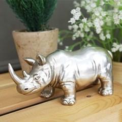 빈티지 실버 코뿔소