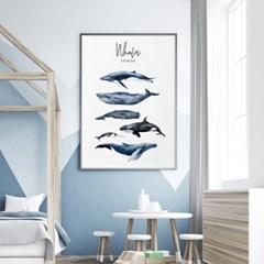 고래 아이방 그림 액자 인테리어 포스터