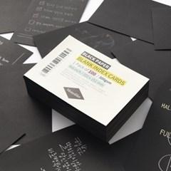 블랭크 인덱스카드 블랙 100매 - 4x6