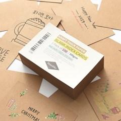 블랭크 인덱스카드 크라프트 100매 - 4x6