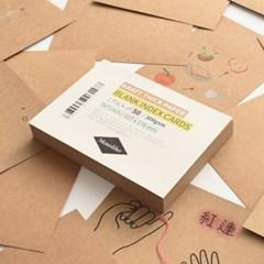 블랭크 인덱스카드 크라프트 50매 - 5x7