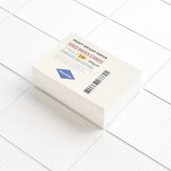 그리드 인덱스카드 화이트 100매 - 3.5x5