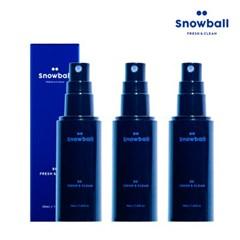 [무료배송] 스노볼 Snowball 국내최초 뿌리는 남성청결제 X3개