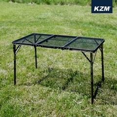 카즈미 아이언메쉬 3폴딩 접이식 캠핑테이블 II K9T3U002 / 4단높이