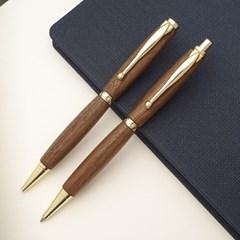 나모 월넛 펜 세트, 이니셜 각인 무료, 고급 펜 세트