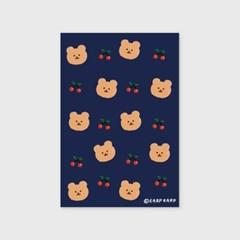 Dot cherry bear-navy(엽서)_(1206799)