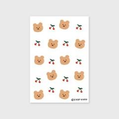 Dot cherry bear-white(엽서)_(1206798)