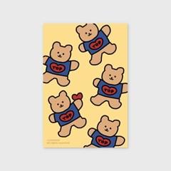 Bear heart-creamyellow(엽서)_(1206794)