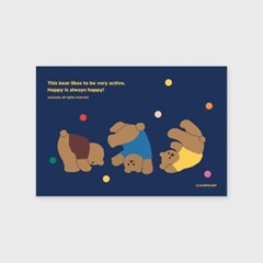 Rolling bear-navy(엽서)_(1206804)
