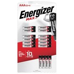 [맥스장터]  에너자이저 맥스 12+4입 AAA(16알)