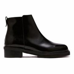 [피어포] enamel ankle boots_Black (W)