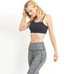 [monob]Contrast Strap Seamless Sports Bra (AT1962_BK_(2039438)