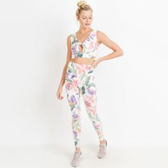[monob]Highwaist Floral Lei Print Full Leggings (APH_(2039421)