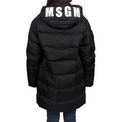 19FW MSGM 후드 로고 구스다운 롱패딩 (블랙/여성) 2741MDH24X 752 9