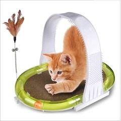 묘심 고양이체육관 4가지기능을 한번에 스크래쳐 깃털 공놀이 등긁게
