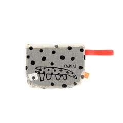 Dot Lizard Mesh Clutch_Ivory