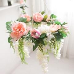 피오니등꽃샹들리에 40cmP 리스 조화장식 FMWGFT_(1346228)
