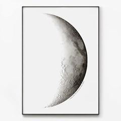 메탈 달 풍경 포스터 모던한 인테리어 그림 액자 반달