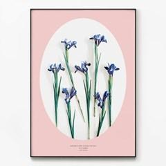 메탈 식물 꽃 프로방스 인테리어 그림 액자 아이리스