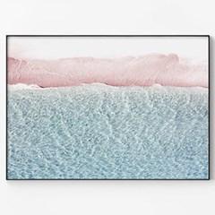 메탈 바다 해변 여름 풍경 인테리어 그림 액자 파도 ver2